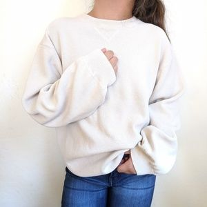 Vintage | Oversized Crew Neck Knit Sweater